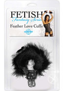 Fetish Fantasy Series Feather Love Cuffs Black