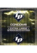 Id Extra Large Lubricated Latex Condoms 3 Each Per Pack