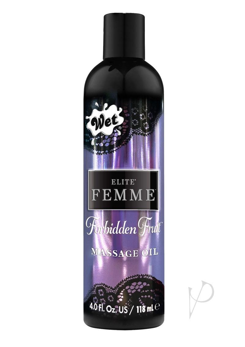 Wet Inttimo Aromatherapy Massage And Bath Oil Forbidden Fruit 4 Ounce