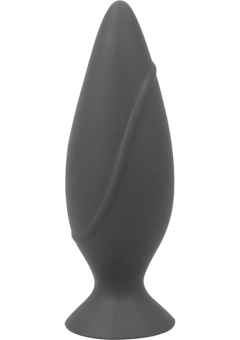 Corked Silicone Anal Plug Waterproof Small Charcoal