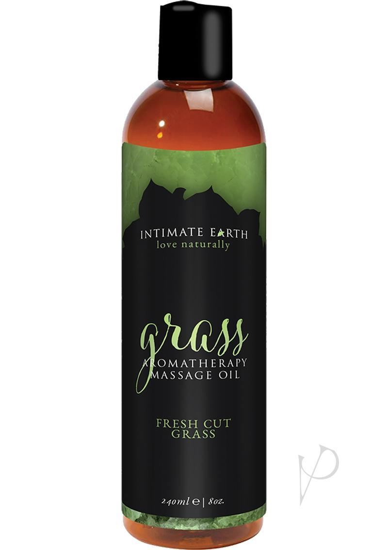 Intimate Earth Aromatherapy Massage Oil Fresh Cut Grass 8 Oz