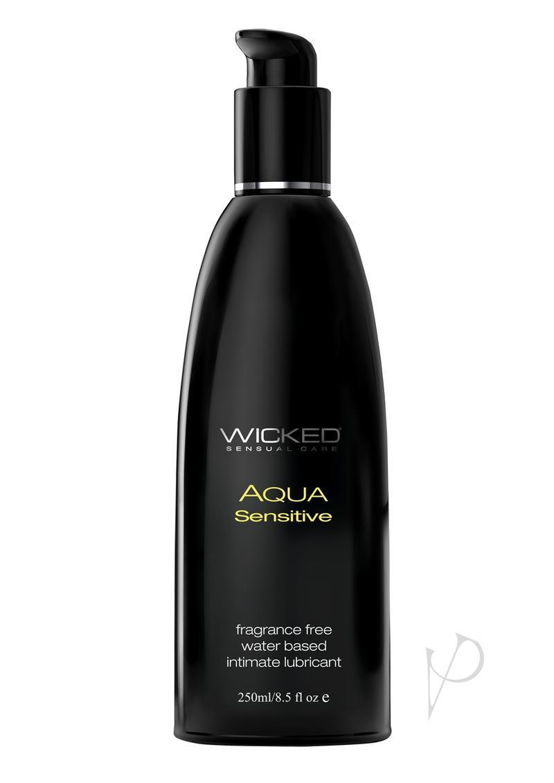 Wicked Aqua Sensitive Hypoallergenic Water Based Intimate Lubricant 8 Ounce Pump