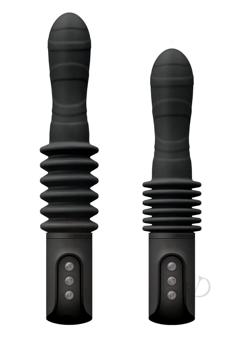 Renegade Deep Stroker Black Vibrator Multi Function Silicone  Rechargeable